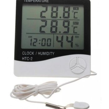 THERMOMETER HYGROMETER - TEMPERATURE HUMIDITY CLOCK - HTC-2 DIGITAL